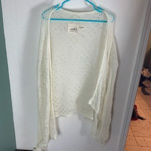Angel of the North Lace  Cardigan m/l Anthropology